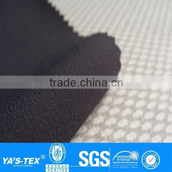 Dark Grey Plain Polyester Spandex 4 Way Stretch Woven Textil Printed TPU Fabric For Activewear Jacket Shoes
