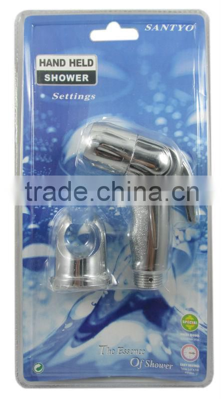 Complete set --Plastic ABS/ PP shattaf/ Spray head/ Chrome bidet hand spray/ Bidet shattaf(chrome plated,brass core)
