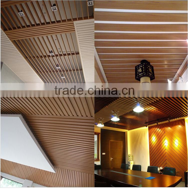 Hotel Decorative Wooden Wall Panel Pvc Ceiling Panel Of