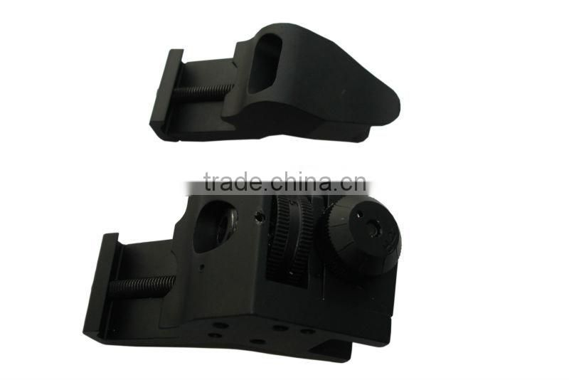 SUNGUN MTS0055 Tactical Front & Rear RTS Rapid Transition Sights / Offset 45 Degree Angled Iron Sight SET