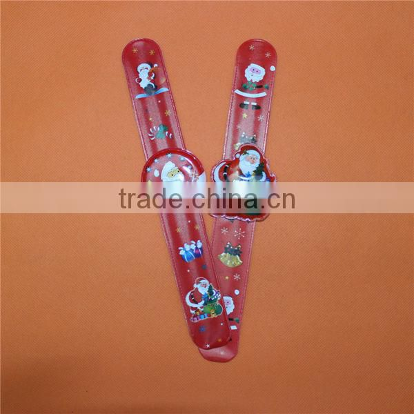 Custom PVC Cheap Slap Band Watches/Slap Bracelet Watches