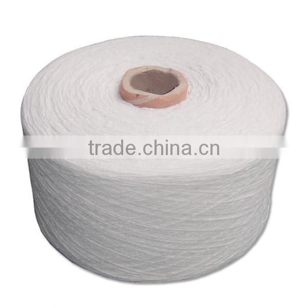 Cheap Recycled cotton yarn 8s raw white for gloves jacquard weaving