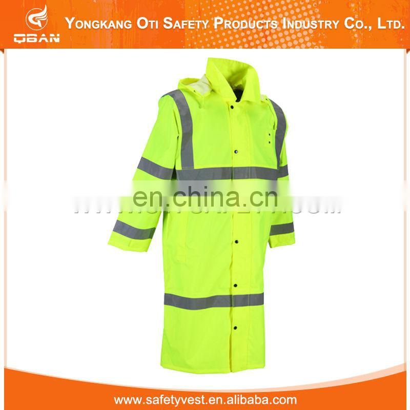 Widely Use Cheap High Visibility Reflective Safety Raincoat Korea