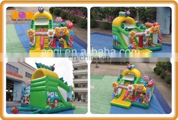For kids animal playhouse used commercial bee inflatable combo bouncer in2017