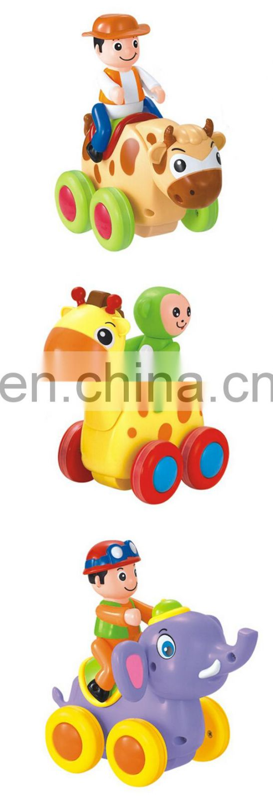 Wholesale plastic toys friction power cartoon animal car