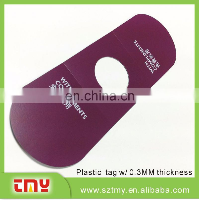 2015 new product pvc hotel room door hanger with cheap price