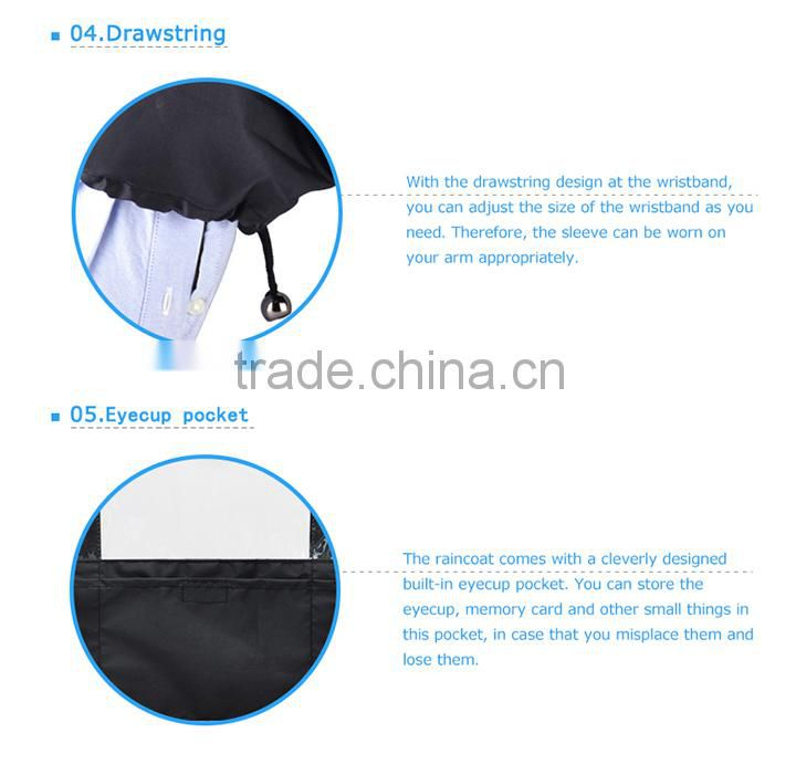 JJC Camera Protector Rain Cover RC-EG Black Nylon Rain Cover for Canon For Nikon