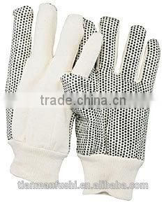 2015 White&Gray Top Quality Cotton Safety Gloves Engineering Matching Wholesale Cheap Gloves