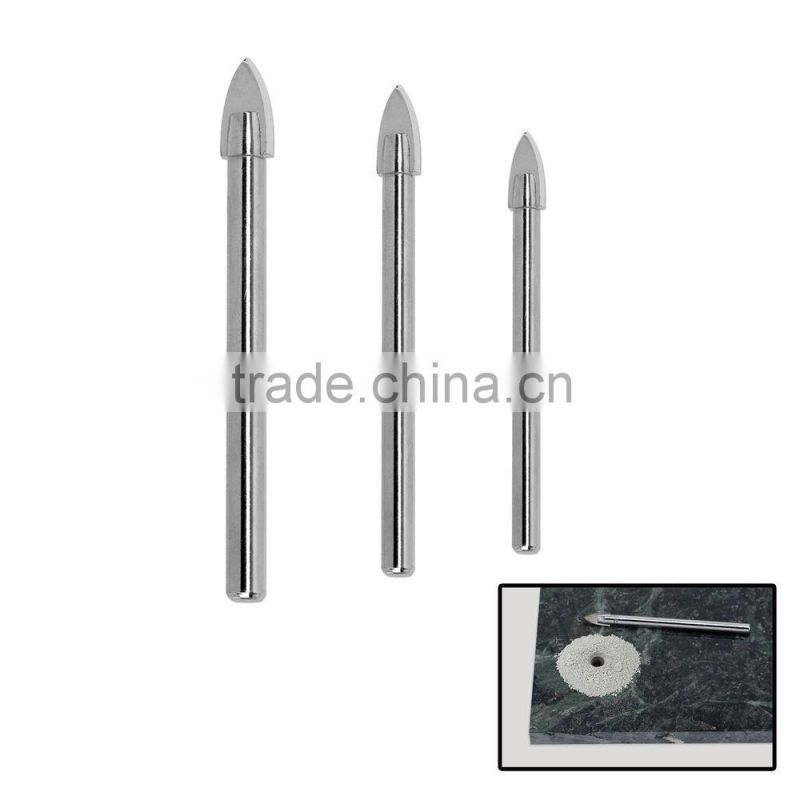 YIYAN BEST SELLING Tungsten carbide Spear-point head Hole Drills bit Glass Tile Ceramic mirror Drill Bits