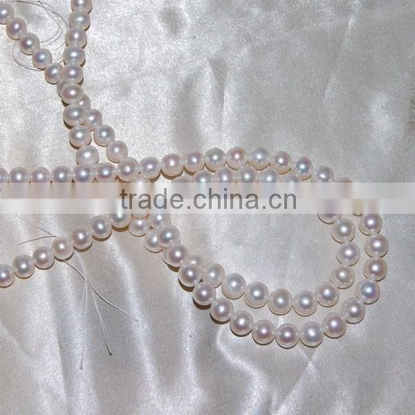 Nice luster freshwater pearl loose beads, grade AA+size 9mm elegant decoration pearl strand