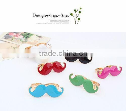 Silicone wedding double loop beard ring