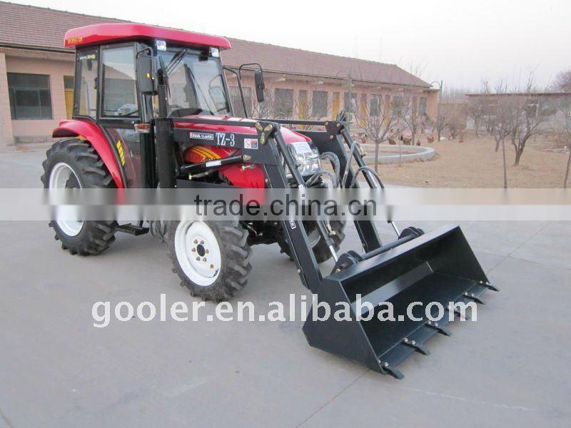 tractor with loader, DQ404, 40HP, 4x4, attachment with 4in1 front