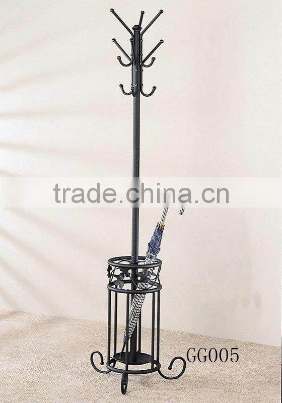 Metal coat hanger stand