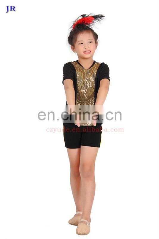 Competition ballroom sequins children boys latin dance costume included top and pant ET-016#
