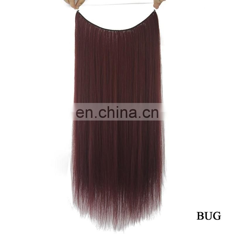 Hot sale brazilian human hair extension fashion fish line hair weft