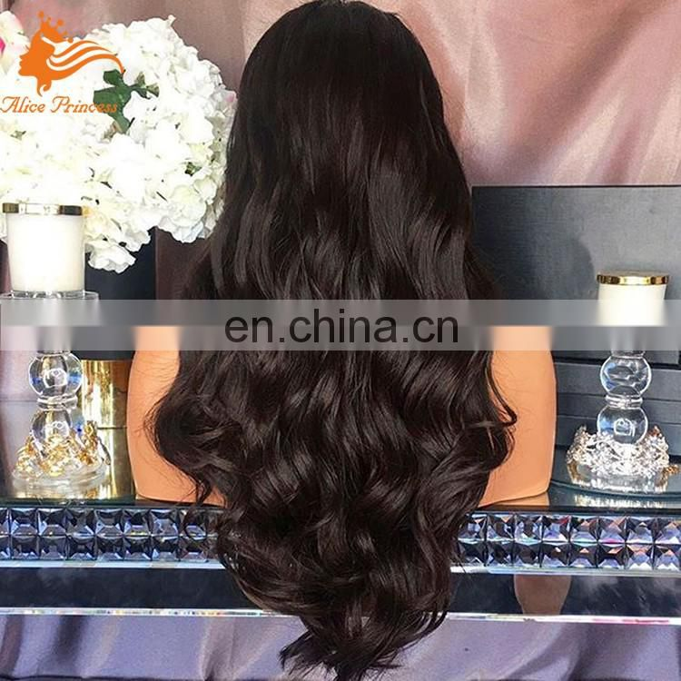 Wholesale brazilian human hair full lace wigs,long wave natural hairline lace front wigs