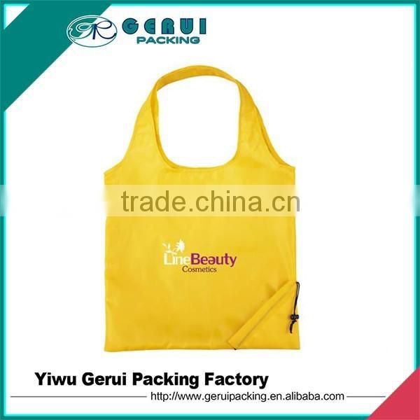 factory directly 190T/210D recycled foldable polyester bag/polyester shopping bag