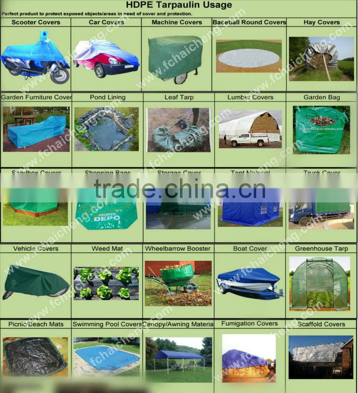 PE Fabric Woven Tarpaulin Sheet For Wheelbarrow Covers