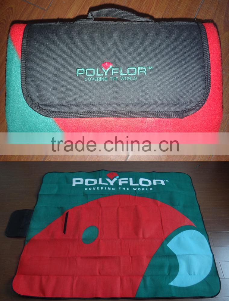 Custom design China wholesale print picnic blanket for camping/Eco-friendly waterproof colorful portable picnic mat
