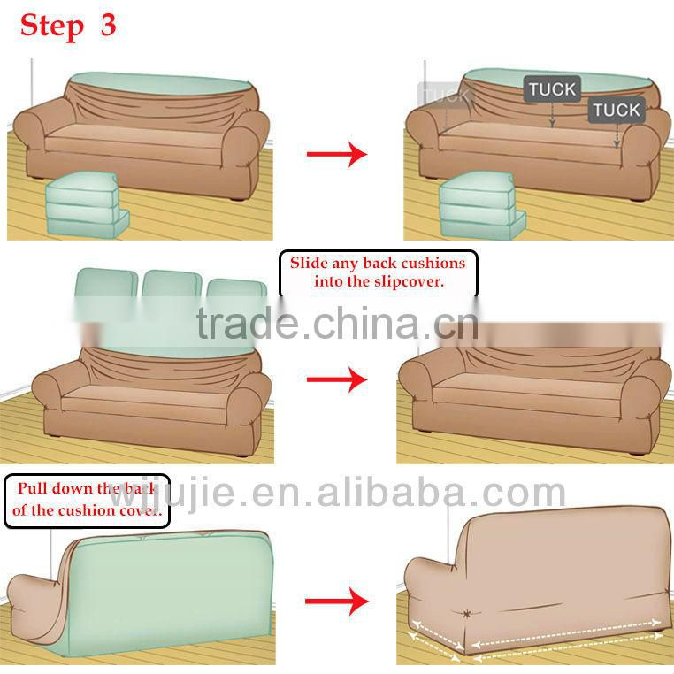 stretch stripe sofa cover set