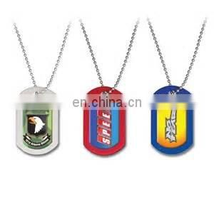Dye sublimation metal military dog tags