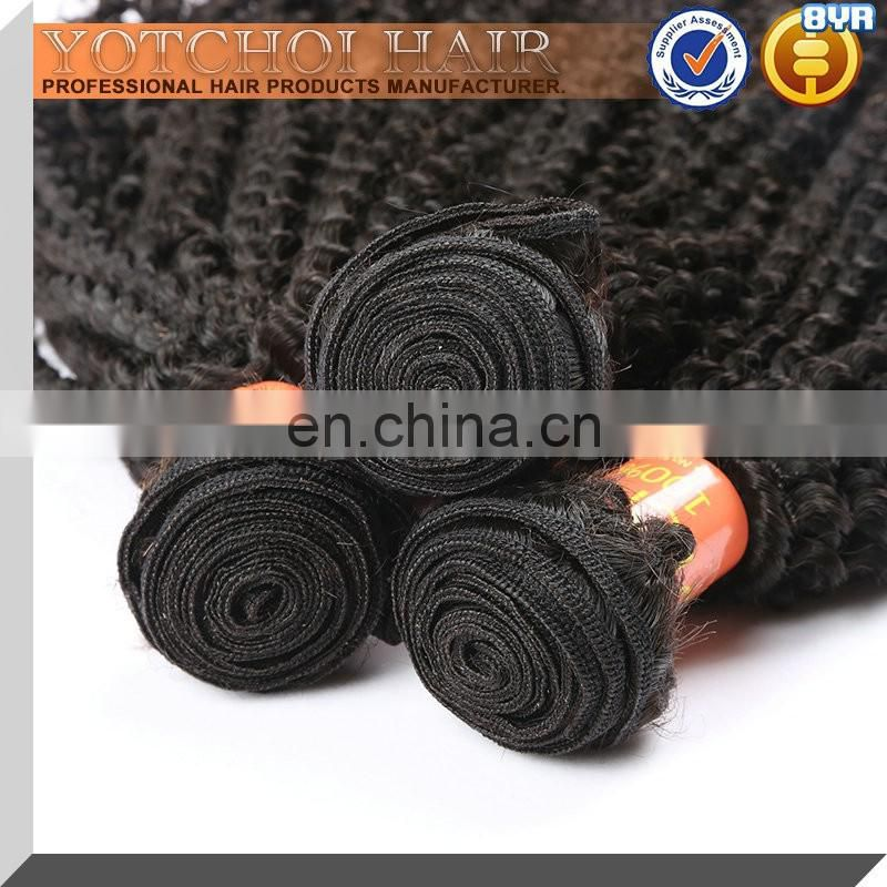 Tangle Free Grade 8A Afro Kinky Human Hair For Weaving