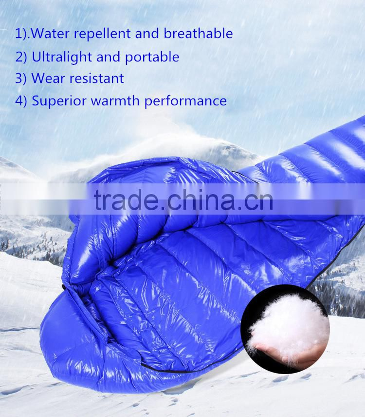 Outdoor travel hiking ultralight goose down mummy sleeping bag