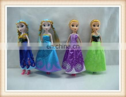 "9"" battery operated plastic girl doll princess doll toy with music"