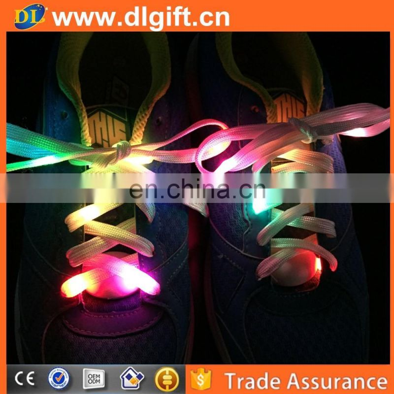 Fashionable design colorful nylon luminous shoelace light up led shoelace