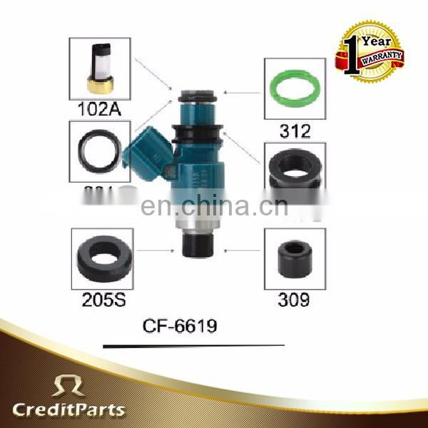Quality Fuel Injector Parts Replace Repair Kits Rubber Grommet Cap Micro Basket Filtro CF-6619