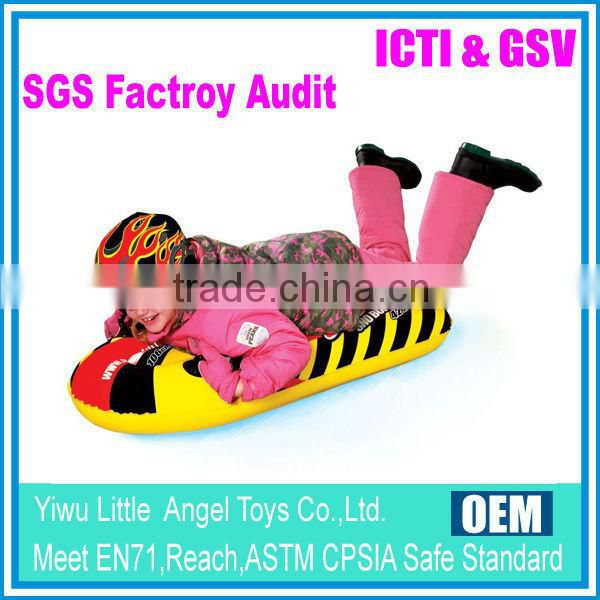 EN71 6P PVC Heavy Duty Inflatable Snow Tubes with handles