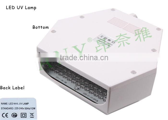 Professional Hot Selling Nail Art Machine Wholesale 12W Nail UV Lamp