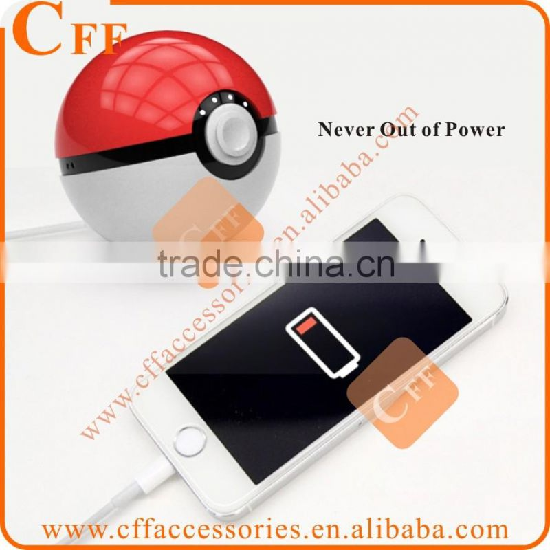Pokemon Go Ball Power Bank 12000mah Chager With LED Light For Pokemon Go AR Games Best Quality