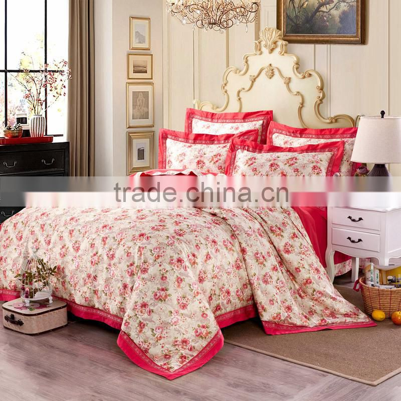 Hot selling king size embroidered home textile cotton fabric for flat bed sheet,duvet cover ,bedding set for hotel and hospital