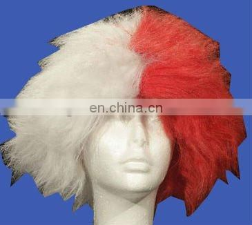 Brazilian world cup wig ,good quality fans wig ,synthetic party wig