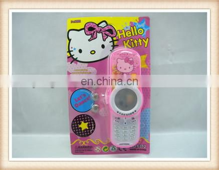 Hot sell hello kitty music phone girl toys