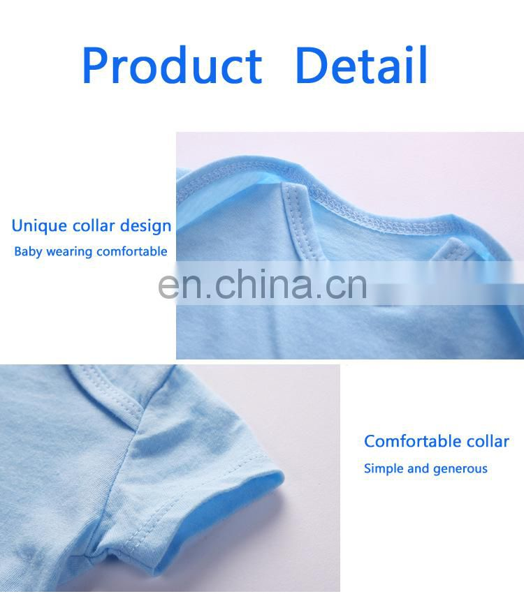 Elinfant Hot Selling New Born Baby Clothes solid color Baby Romper wholesale