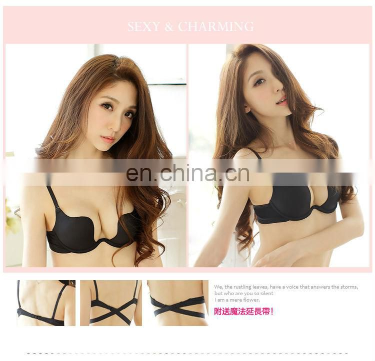 high quality push up women one piece cloth bra with straps for wholesale