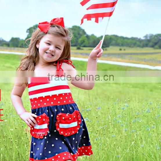 Fashion floral printed girls smocking dress high quality kids one-piece dress hot sale baby girl summer dress