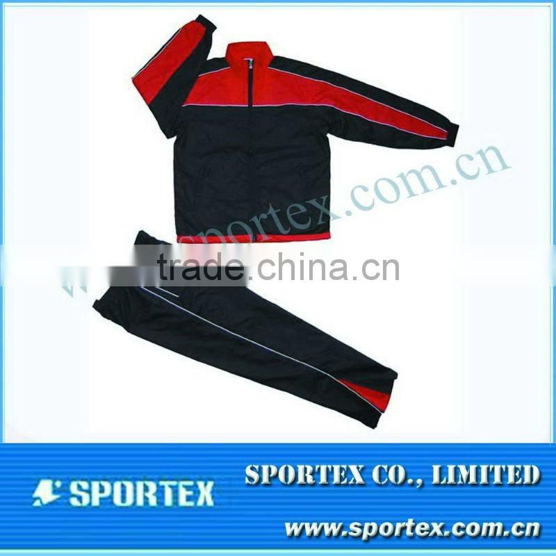 Mens jogging suit wholesale / zip up running tracksuit for sportwear