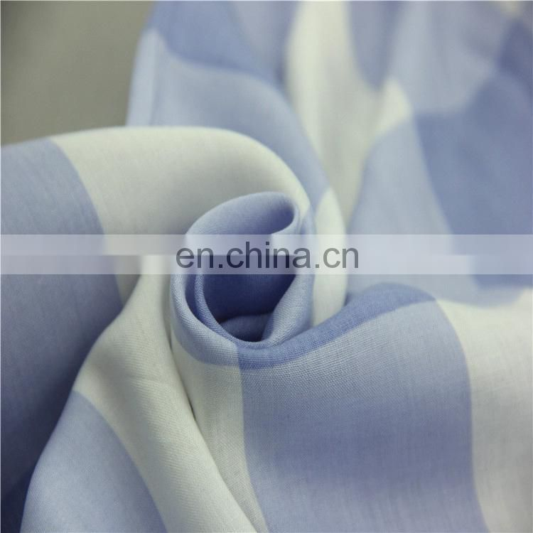 comfortable feel XFY 100 rayon Lattice printing fabric