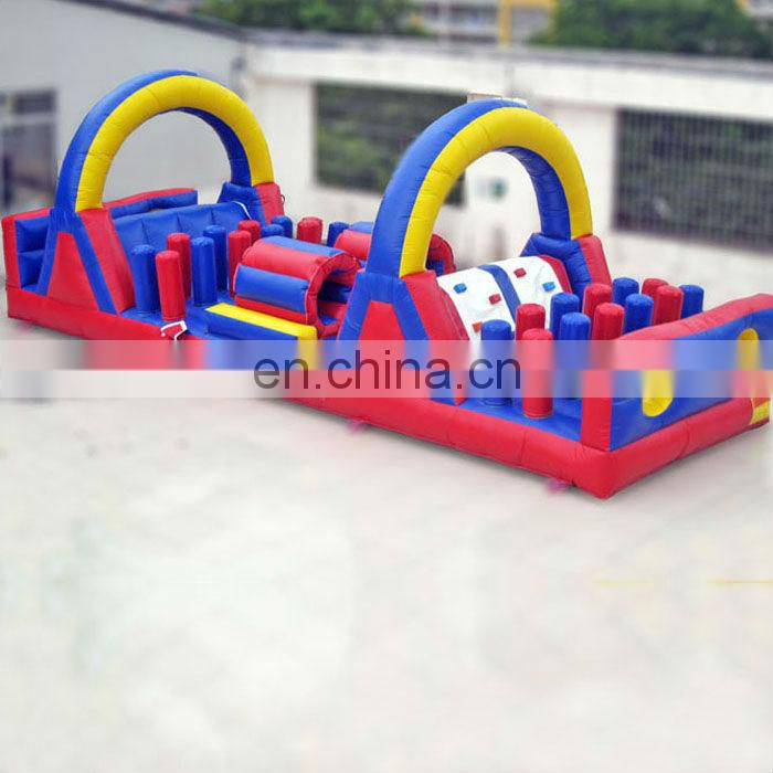 2015 Rainbow inflatable obstacle course with slide