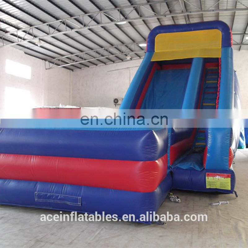 2017 trending productshappy hop inflatable floating bouncy castle with water slide