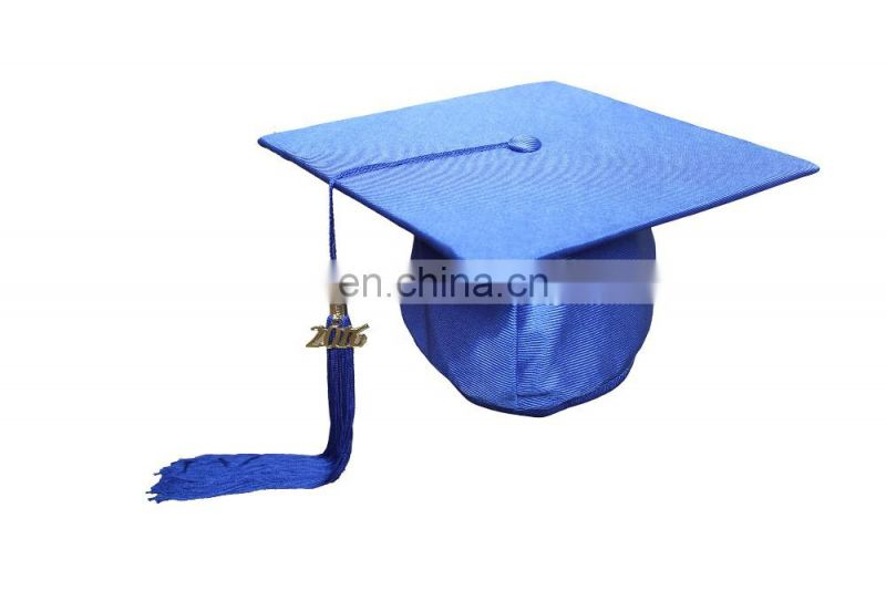 2016 New Style Polyester Graduation Cap With Tassel-Royal Blue