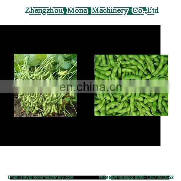 Green mung bean soybean picking machine/soya pea pod removing separating machine