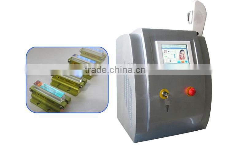 portable ipl hair removal / xenon ipl lamp / e-light ipl rf+nd yag laser multifunction machine with CE