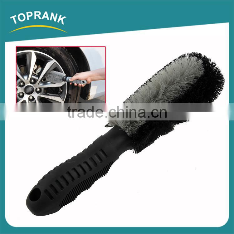 High quality PVC handle car wheel cleaning tool car wash tire brush