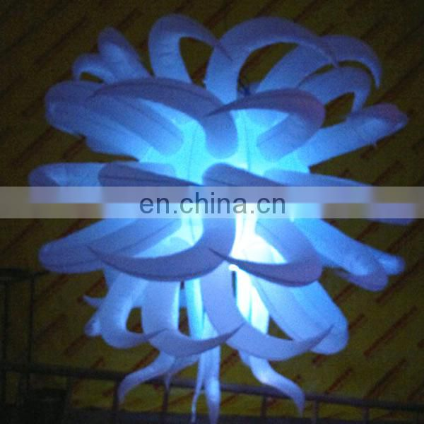 Many horns Colorful inflatable star for stage decoration