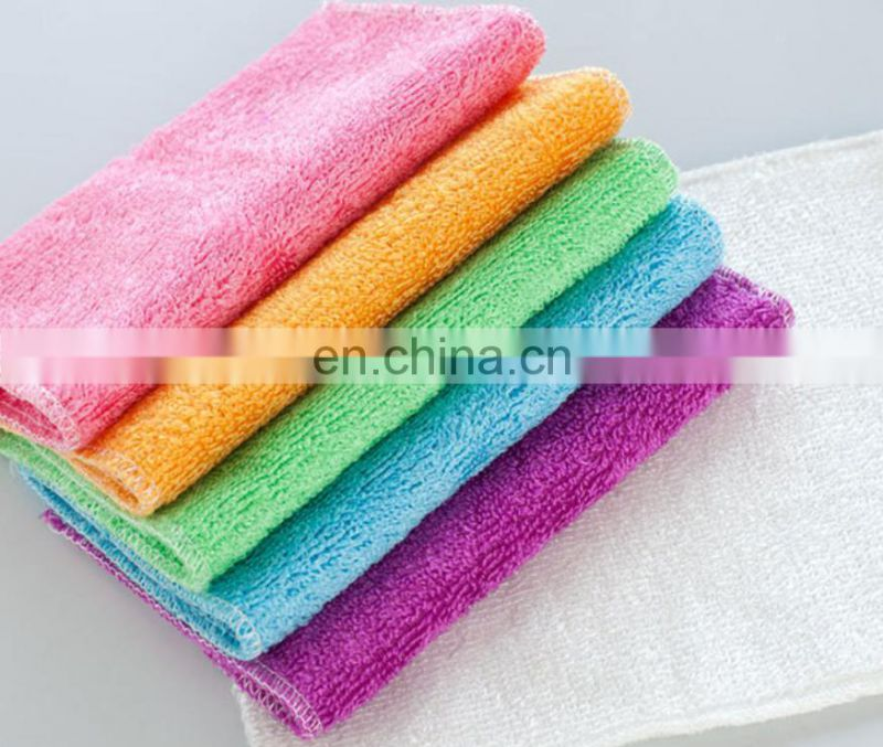 Wholesale Non-Stick Oil Bamboo Fiber Double Kitchen Towel