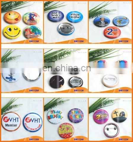 Custom Printed Round Pinback Button Badge with Safe Pin for Promotion BM1113